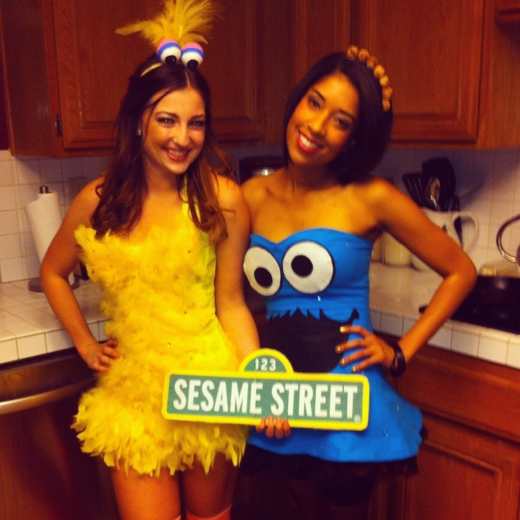 48 best costume ideas images on pinterest costume ideas running do it yourself halloween costumes big bird and the cookie monster solutioingenieria Image collections