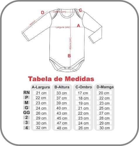 Body Bebê Manga Longa Liso 100% Algodão                                                                                                                                                                                 Mais