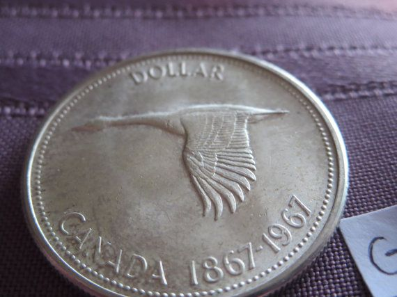 1967 Silver Canadian Dollar by AntiquesandCoinsJL on Etsy