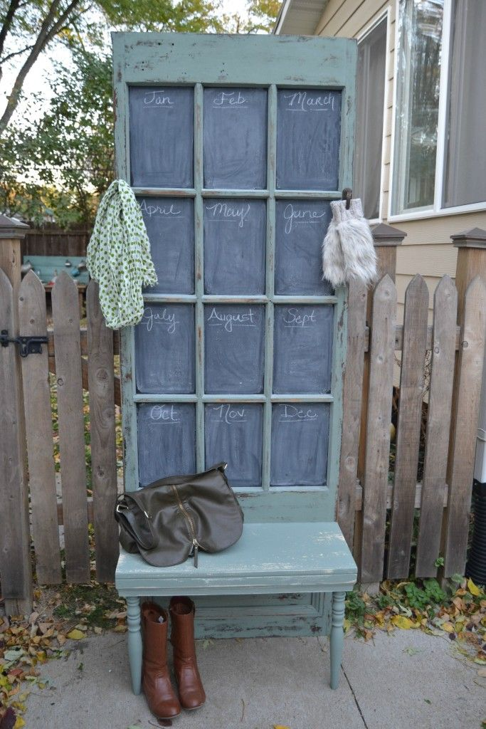 Schoolhouse Door Makes Charming Hall Tree {Themed Furniture Makeover
