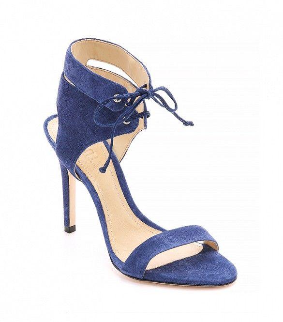 Schutz Kora Suede Sandals, Dress Blue