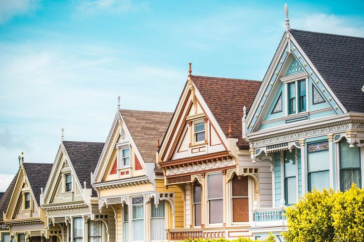 Lovely Street in San Francisco ➤ DOWNLOAD by click on the picture ➤ #Houses #Sweet #Street #SanFrancisco #California #freestockphoto