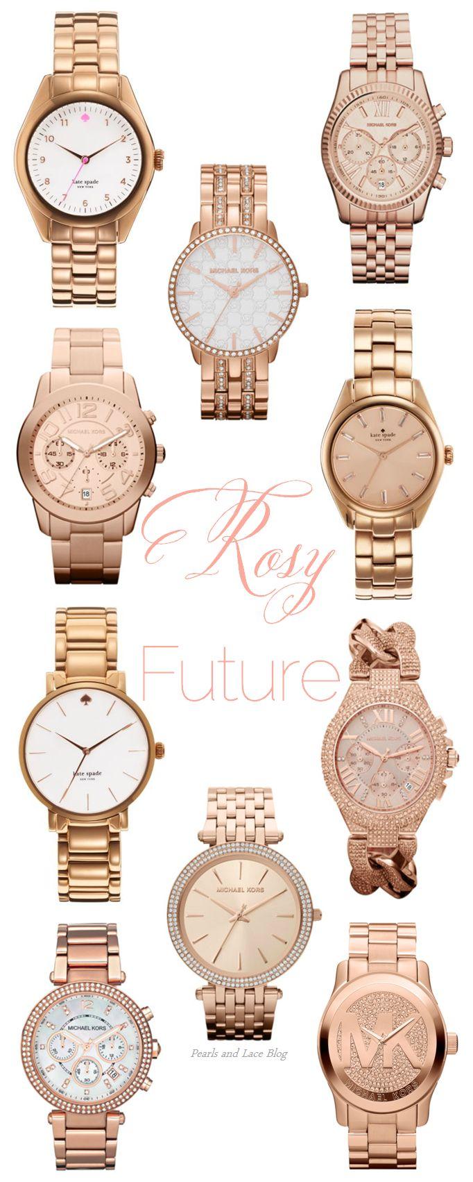 Rose Michael Kors Watches | pearlsandlaceblog.com