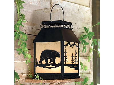 Metal Art Bear Lantern