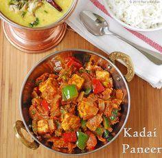 KADAI PANEER RECIPE | PANEER RECIPES | RAK'S KITCHEN