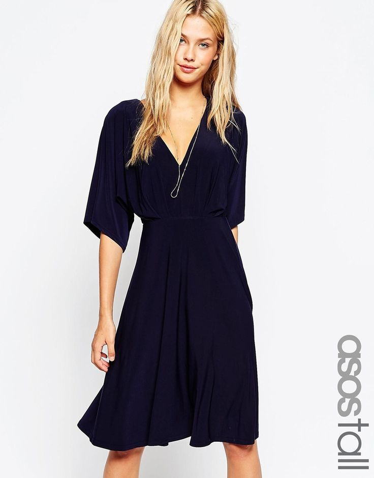 TALL Kimono Plunge Midi Dress – #dress #kimono #Midi #Plunge #Tall