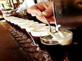 """<a adhocenable=""""false"""" href=""""/content/food/restaurants/ca/san-francisco/t/the-buena-vista-cafe-restaurant.html"""">Irish Coffee from The Buena Vista Cafe: San Francisco</a> : Pouring nearly 2,000 Irish Coffees each day,  <a adhocenable=""""false"""" title=""""Buena Vista"""" href=""""/content/food/restaurants/ca/san-francisco/t/the-buena-vista-cafe-restaurant.html"""">The Buena Vista Cafe</a> reigns supreme as master of the cream-capped glass. From the tulip-shaped goblet to the cane-sugar cubes, each element…"""