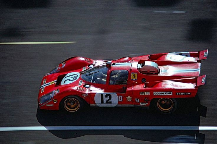 Le Mans 24 Hs. 1971.  Sam Posey / Tony Adamowicz, Ferrari 512 M (North American Racing Team)