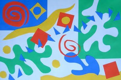 Matisse-inspired collages...includes a list of shape vocabulary to teach (geometric, organic, positive, negative, repeating, and stylized)