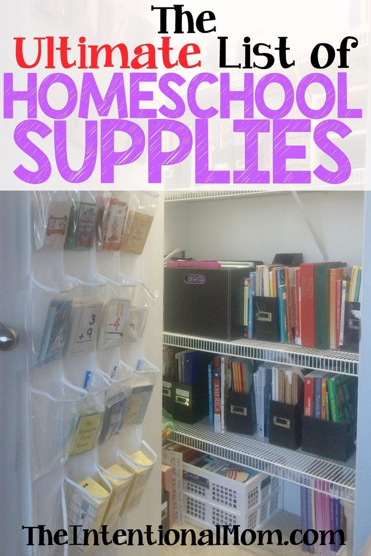 If You Are Wondering What Homeschool Supplies You Really Need, A  Homeschooling Veteran Of More