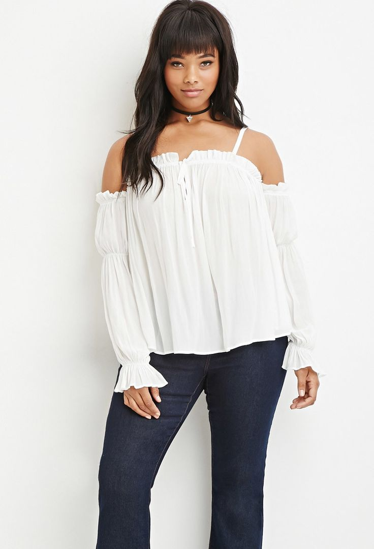 Plus Size Ruffled Off-The-Shoulder Top | Forever 21 PLUS - 2000165083