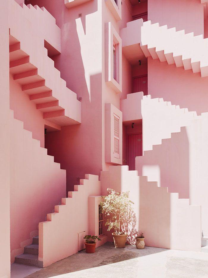 Le rose en architecture : La Muralla Roja à Calpe, Alicante © Ricardo Bofill Taller de Arquitectura