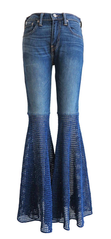Super Wide Bellbottom Unisex Jeans Crochet Pants Elephant Flares