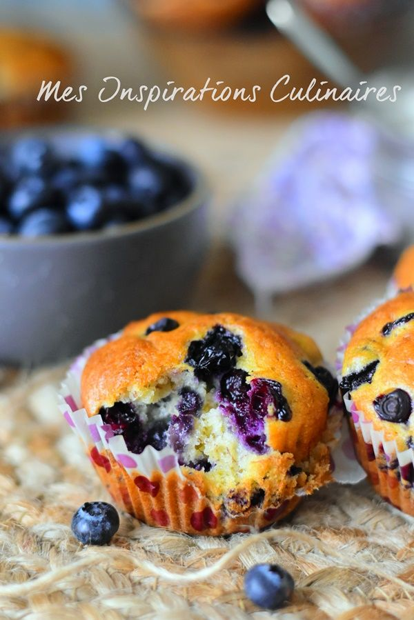 Muffins banana blueberries