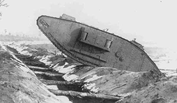 Mark 1 (Female) demonstrating trench crossing capability.