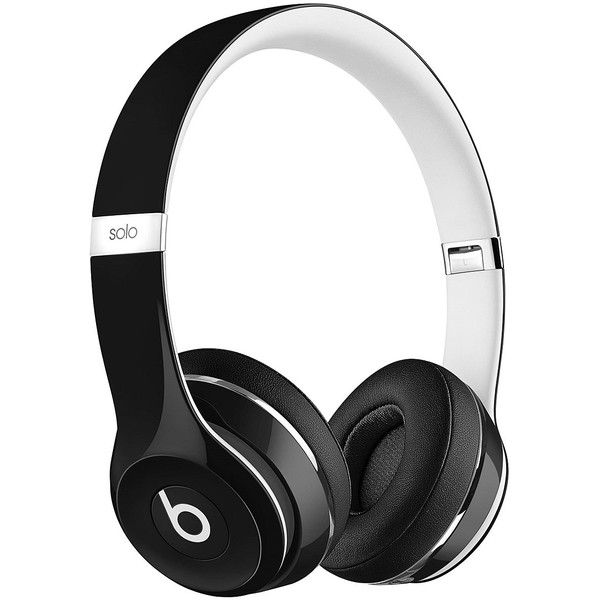 Beats by Dre Black Beats Wired Solo2 LUX Over-Ear Headphones ❤ liked on Polyvore featuring accessories, tech accessories, headphones, beats by dr. dre, wired headphones and beats by dr dre headphones