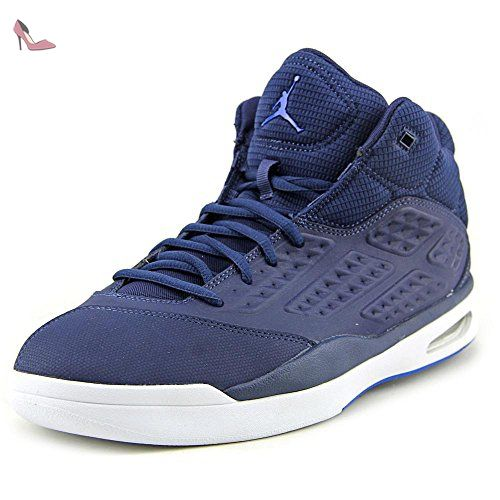 Nike Jordan New School, Chaussures de Sport Homme, Multicolore-Azul / Blanco (Midnight Navy/Soar-White), 42 EU - Chaussures nike (*Partner-Link)