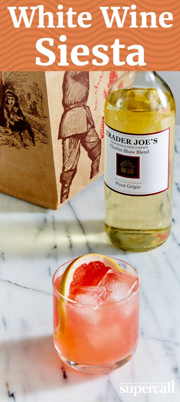 A brightly fruity take on a classic Siesta, this wine-based cocktail swaps in Pinot Grigio for the majority of the tequila, leaving just a half-ounce of the agave spirit in the mix for kick and zest. Made with fresh grapefruit juice and bracingly bittersweet Campari, it's perfect at brunch or just before dinner.