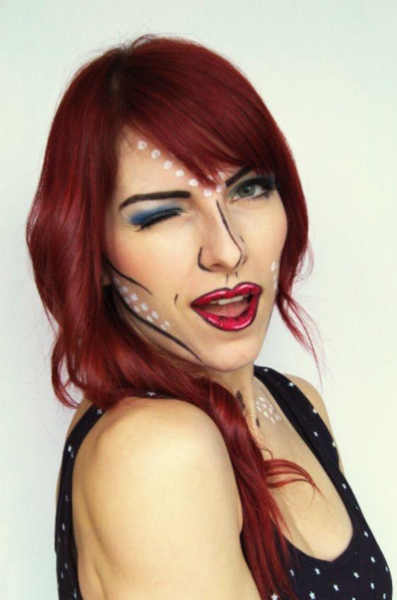 Pop art makeup comicbook makeup ;)!