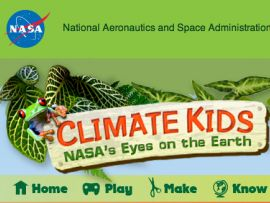 NASA Climate Kids - An educational website with activities, resources, and games to teach kids of all ages about Earth's systems, water cycle, weather and climate.