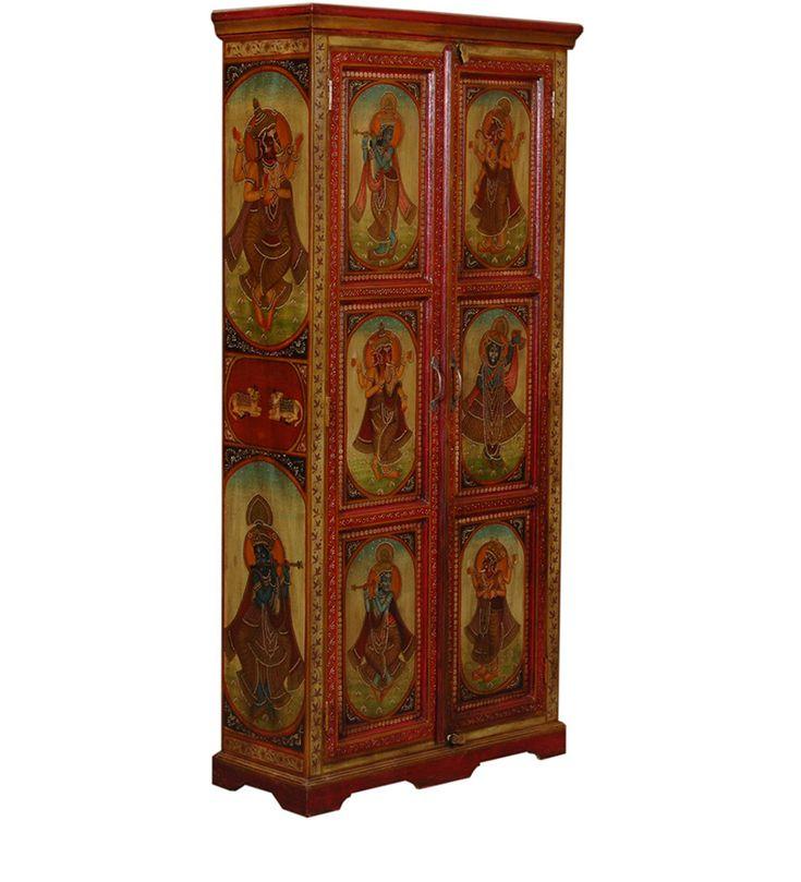 Armadio Due Porte Acacia Legno WD-6027182 X 88 X 35 CM   Arts of India – Italy