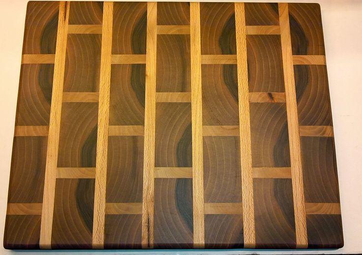 End Grain Brick Cutting Board (Walnut & Maple)