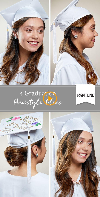 4 Peinados Con Gorro De Graduacion Destaca En Tu Gran Dia Con Nuestras Ideas Para Ri In 2020 Graduation Hairstyles With Cap Graduation Hairstyles Hairdo For Long Hair
