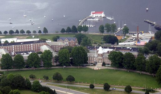 Training at the United States Coast Guard Academy in New London Connecticut