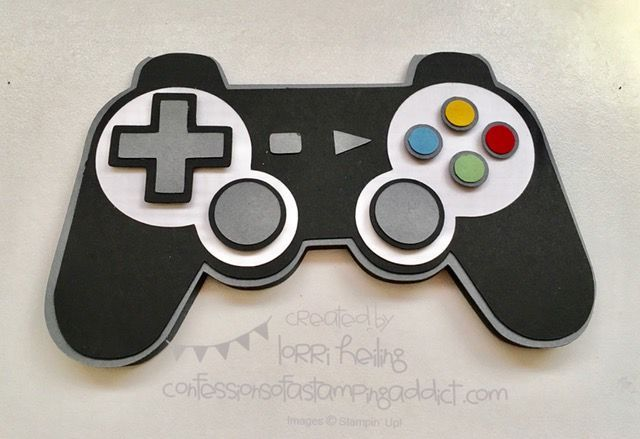 Playstation Controller Birthday Card   Confessions of a Stamping Addict   Bloglovin'