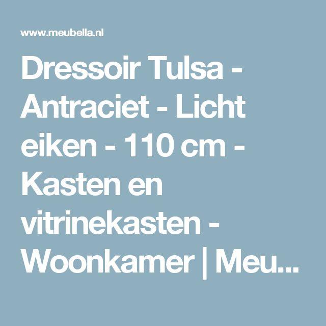 Dressoir Tulsa - Antraciet - Licht eiken - 110 cm - Kasten en vitrinekasten - Woonkamer | Meubella