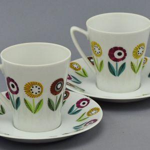 Upsala-Ekeby/Karlskrona ベリス コーヒーカップ (Upsala-Ekebyロゴ)