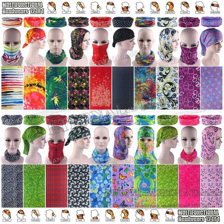 Latest Fashion Various Women Outdoor Multifunctional Headband Balaclava Seamless Tubular Headwear Tube Scarf Cycling Bandana