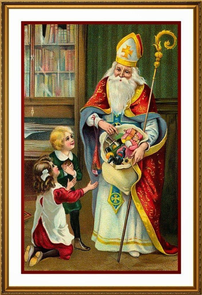 Дед мороз германия открытка, рисования