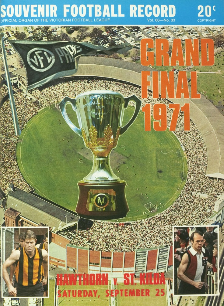 Hawthorn vs St.Kilda: Grand Final Football Record 1971
