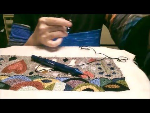 Instructional Tutorial for Punch Needle Embroidery - YouTube