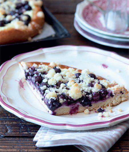 Český borůvkový koláč