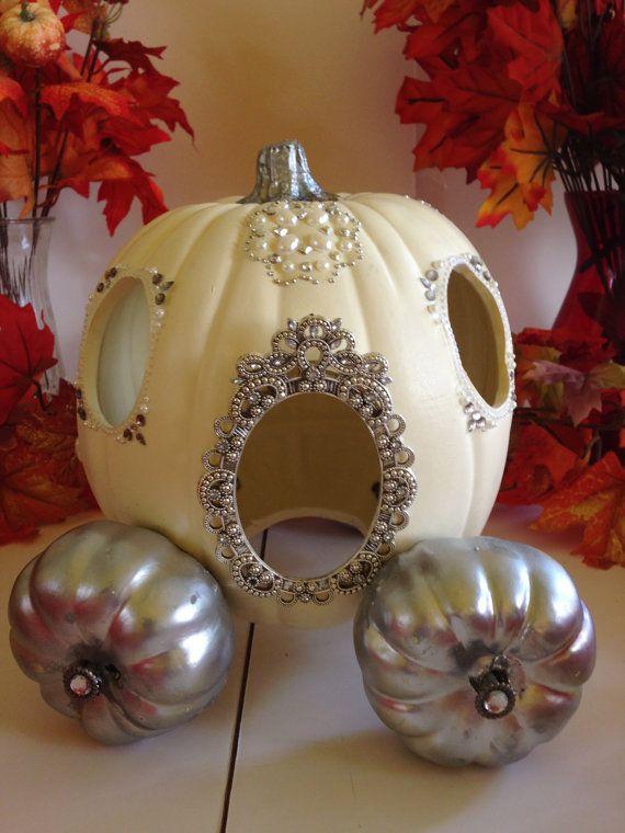 Cinderella pumpkin coach foam white and silver by