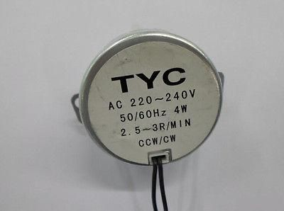 [Visit to Buy] 1Pc 220-240VAC 4W Black Dual Wires 2.5-3RPM/min Synchronous Motor for Micro Oven #Advertisement