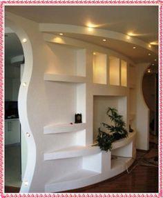 Resultado de imagen para half room divider custom drywall