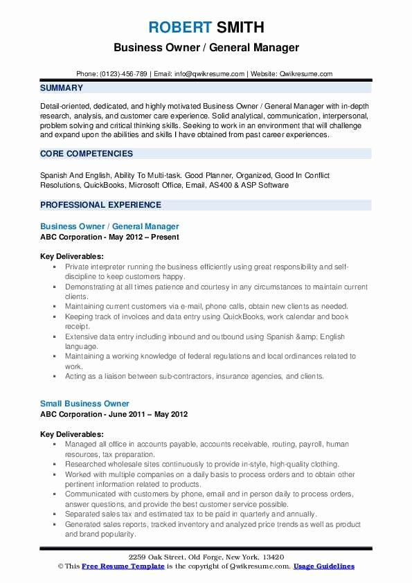Small Business Owner Resume Luxury Business Development Resume Samples Examples And Tips In 2020 Job Resume Examples Medical Sales Resume Retail Resume Examples