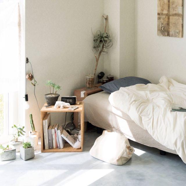 一人暮らし/NO GREEN NO LIFE/IKEA/無印良品/Bedroom…などのインテリア実例 - 2015-10-04 22:48:34 | RoomClip(ルームクリップ)