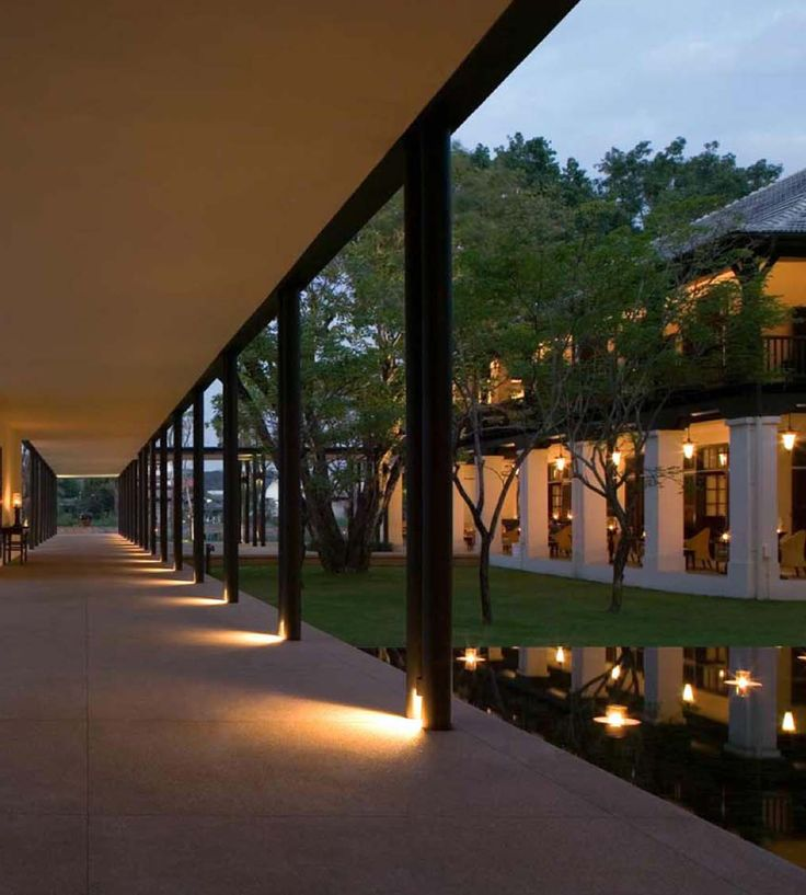 Pin By Yrtd12345 On Resort In 2019 Exterior Lighting Modern Courtyard Architecture