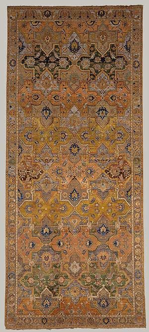 History is told in carpets such as this one from the Islamic World. It's from the 1600–1800 century and is featured in the Metropolitan Museum.