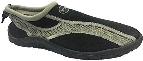 Sea Sox water shoes are a mans best friend!! They are extremely durable, light weight, and comfortable. Perfect to wear playing sports, exercising, or at the beach, pool, etc . The shoes feature a pull toggle at the heel for a perfect fit. Mesh material dries quickly and protects the feet from... http://shoes.bestselleroutlet.net/product-review-for-mens-waterproof-water-shoes-aqua-socks-beach-pool-yoga-exercise-boating-surf-mesh-adjustable-toggle/
