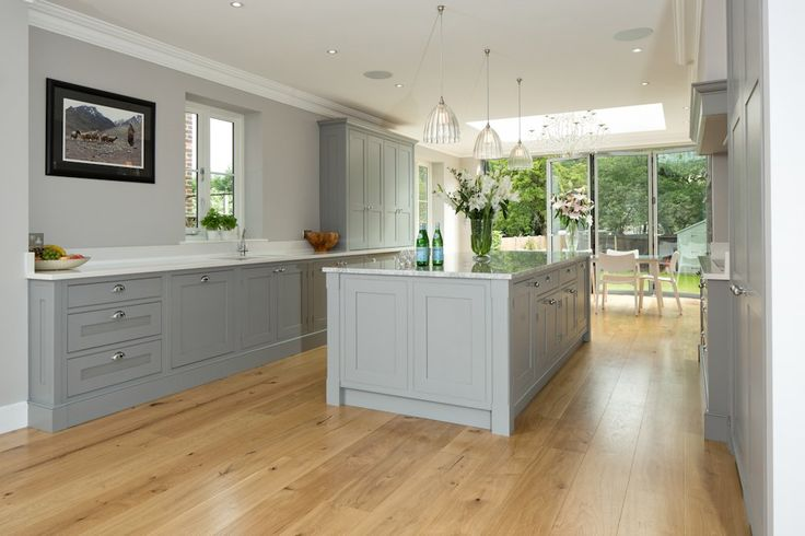 Classic Grey and White Kitchen   - Bespoke handmade wood kitchens by Maple and Gray