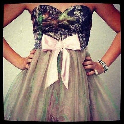 The prettiest pattern is camo. | 35 Easy Ways To Identify A Southern Woman @bjk1