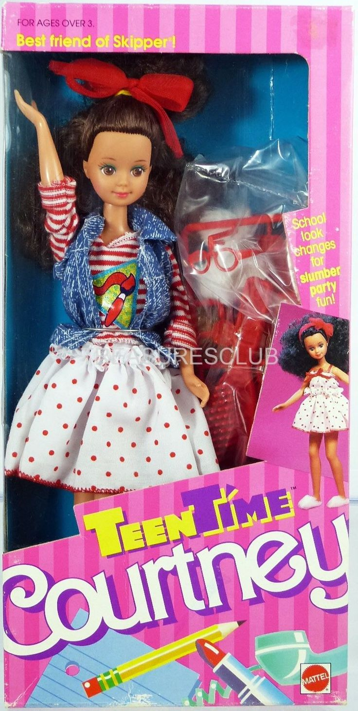 Find great deals on ebay for barbie hair extensions doll barbie light - Skipper Teen Time Courtney Doll 1952 New Nrfb 1988 Mattel Inc 3 Childhood Toysbarbie