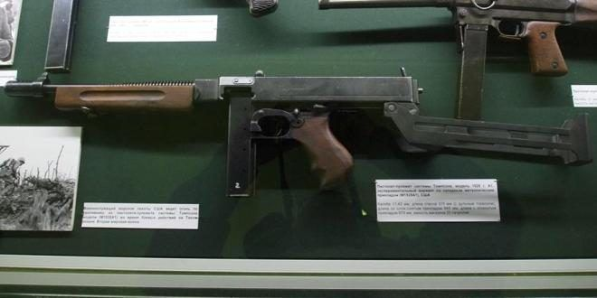 f2294f2b747a6 Experimental Thompson SMG with a Folding Stock (2)