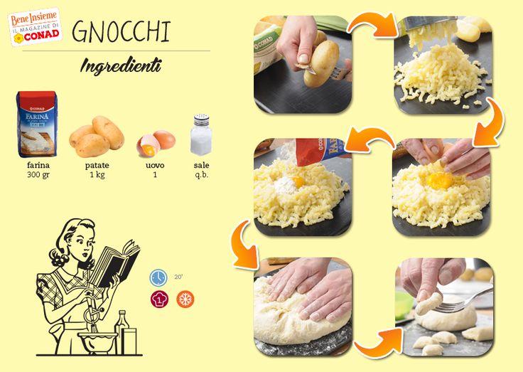 Giovedì, #gnocchi! Prova a realizzarli insieme a noi seguendo il tutorial di #Conad Bene Insieme! Clicca sulla foto per la #ricetta