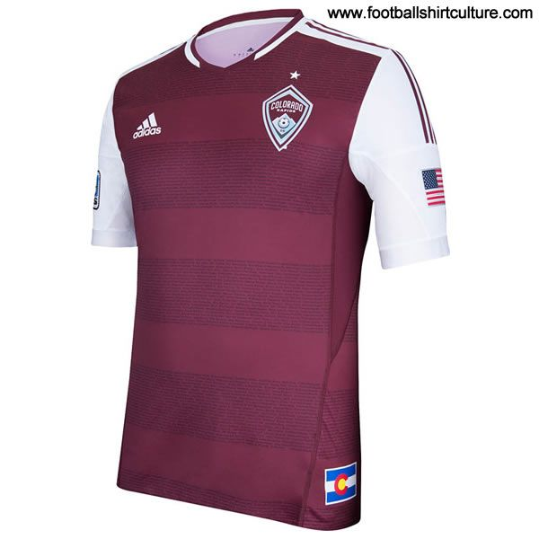 Colorado Rapids 2013 Adidas Home Football Shirt | 13/14 Kits | Football Shirt Culture.com